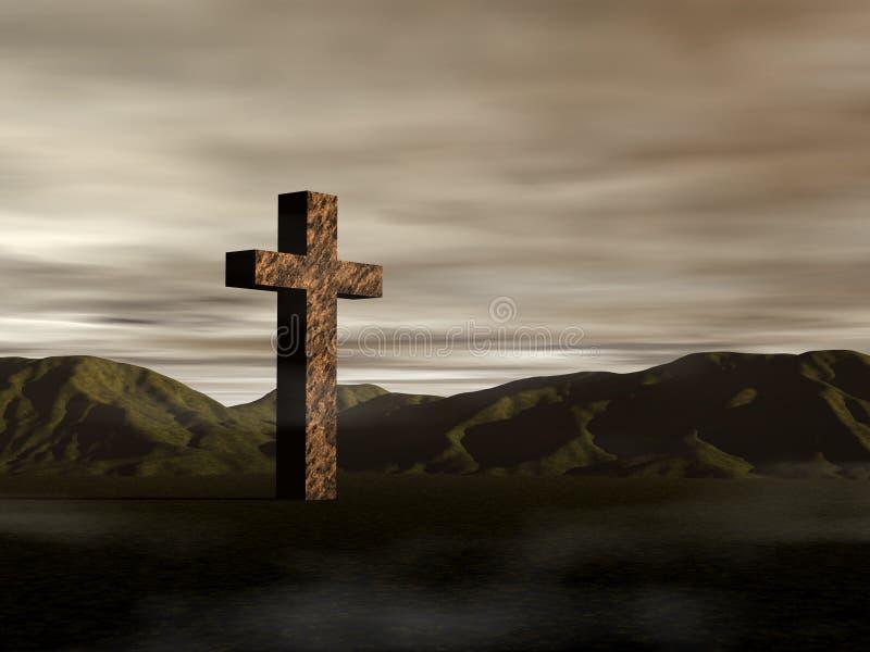 Una cruz antigua libre illustration