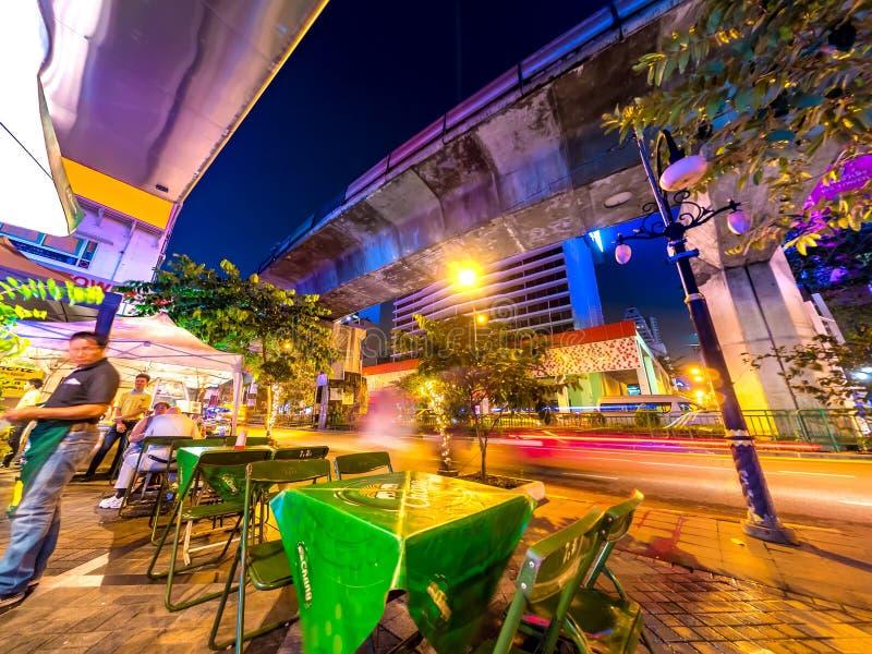 Una cucina della via a Bangkok fotografia stock