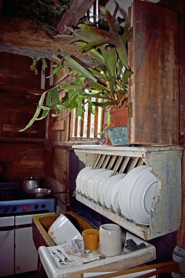 In una cucina di tudor fotografia stock libera da diritti