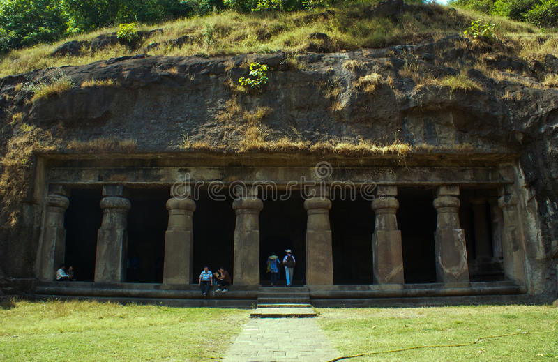 Una cueva antigua en la isla de Elephanta. foto de archivo libre de regalías