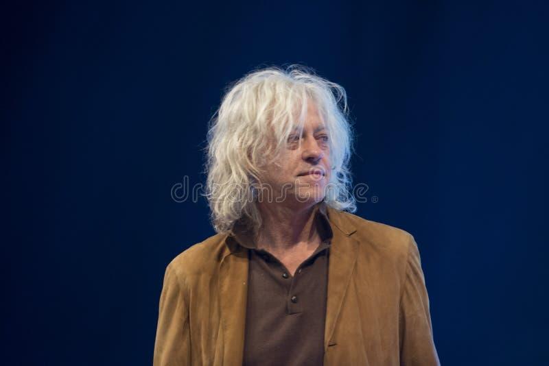 Una cumbre de mundo joven en Den Haag City The Netherlands 2018 Bob Geldolf In Action foto de archivo