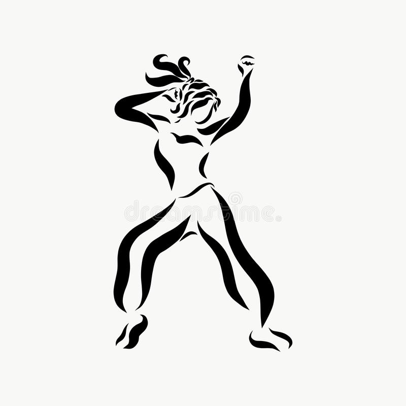 Una danza moderna joven enérgica libre illustration