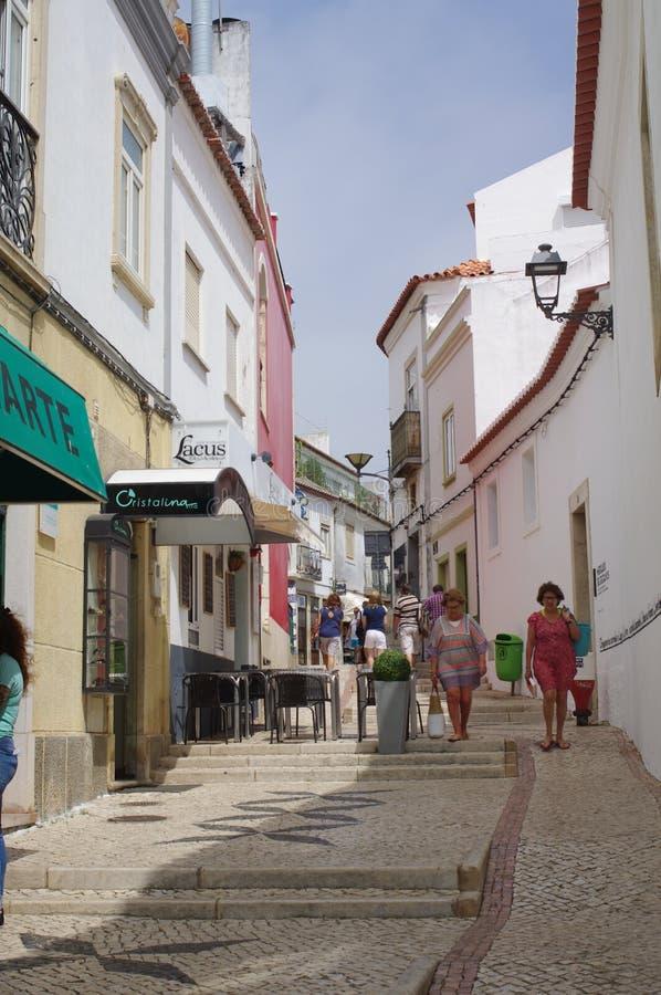 Una de calles en Lagos histórica en Portugal imágenes de archivo libres de regalías