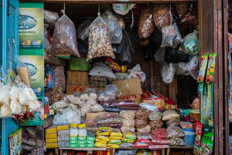 Una de ensaladas secadas s del ` de Myanmar foto de archivo libre de regalías