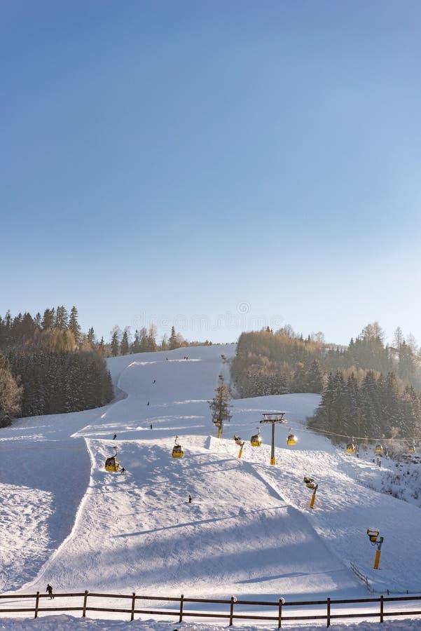 - una de las estaciones de esquí superiores de Austria Macizo de Dachstein, regi?n Schladming Dachstein fotos de archivo libres de regalías