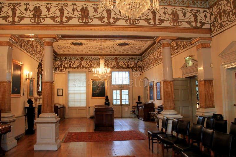 Una delle stanze principali dentro il museo dello scrittore, Dublino, Irlanda, caduta, 2014 immagini stock libere da diritti