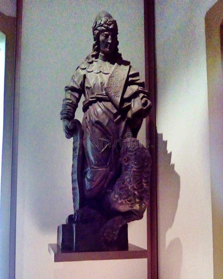 Una delle statue di Aleijadinho immagine stock libera da diritti