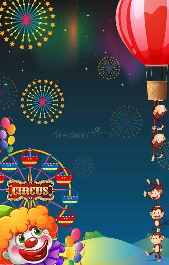 Una demostración del circo en el carnaval ilustración del vector