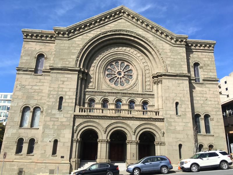 Una di più vecchie sinagoghe negli Stati Uniti, Sherith Israele, 2 immagine stock