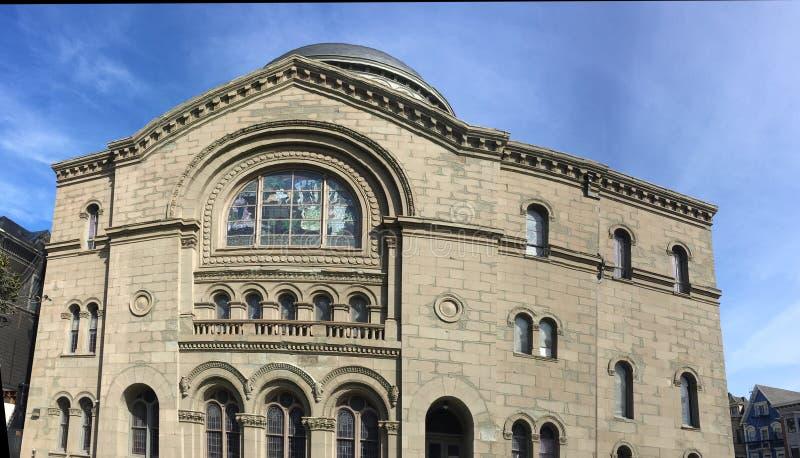 Una di più vecchie sinagoghe negli Stati Uniti, Sherith Israele, 1 fotografia stock