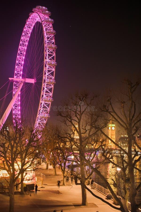 Una distinta vista del ojo de Londres imágenes de archivo libres de regalías