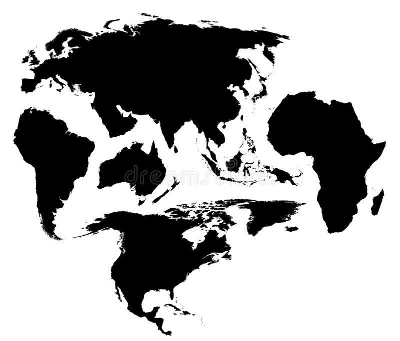 Una diversa correspondencia del mundo stock de ilustración