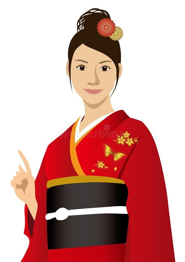 Una donna illustrazione di stock