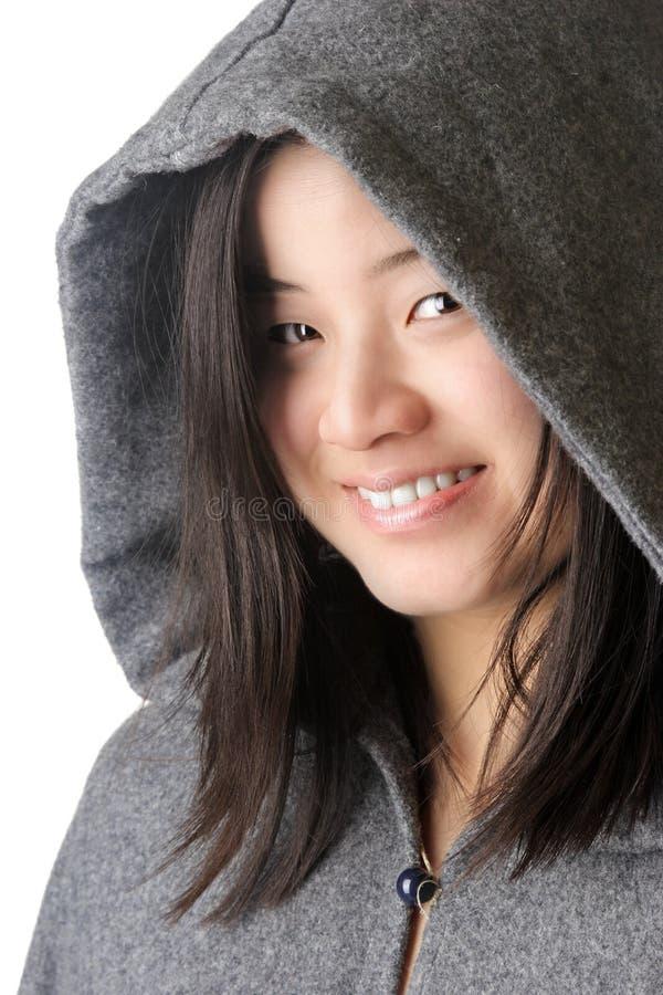Una donna asiatica attraente fotografia stock