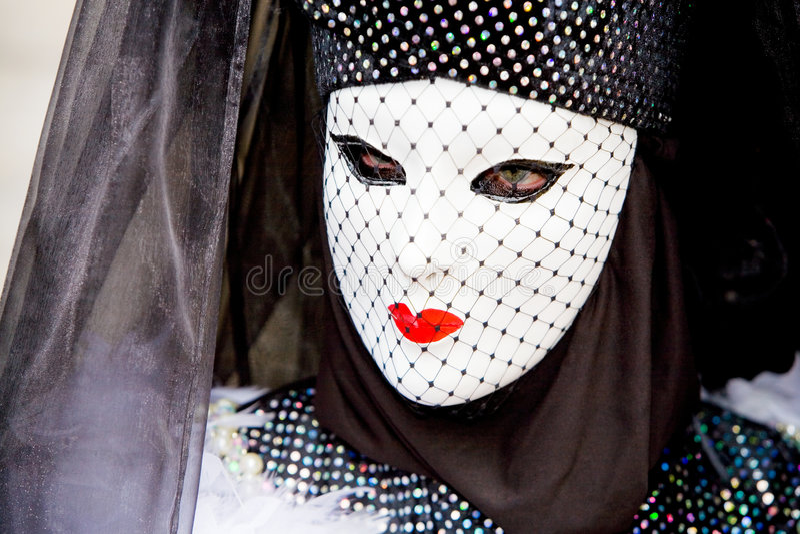 Una donna in costume   fotografie stock