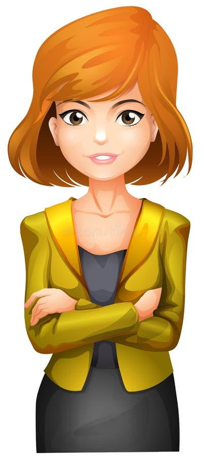Una donna di affari graziosa che porta una giacca sportiva illustrazione vettoriale