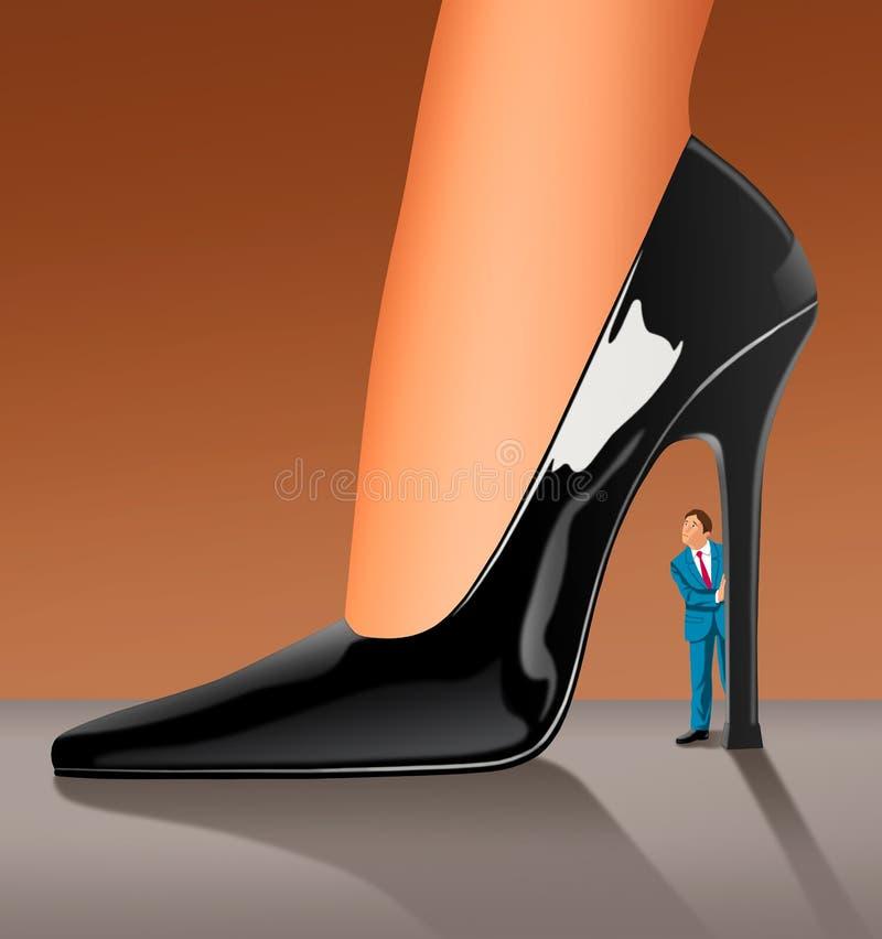 Una donna di dominazione royalty illustrazione gratis