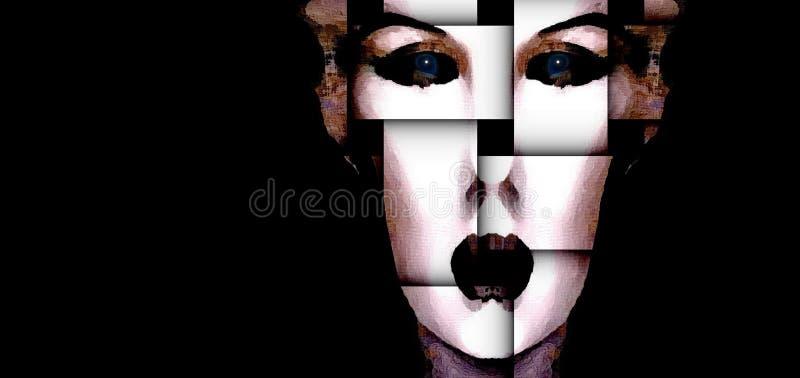 Una Donna Fratturata: Elena immagini stock