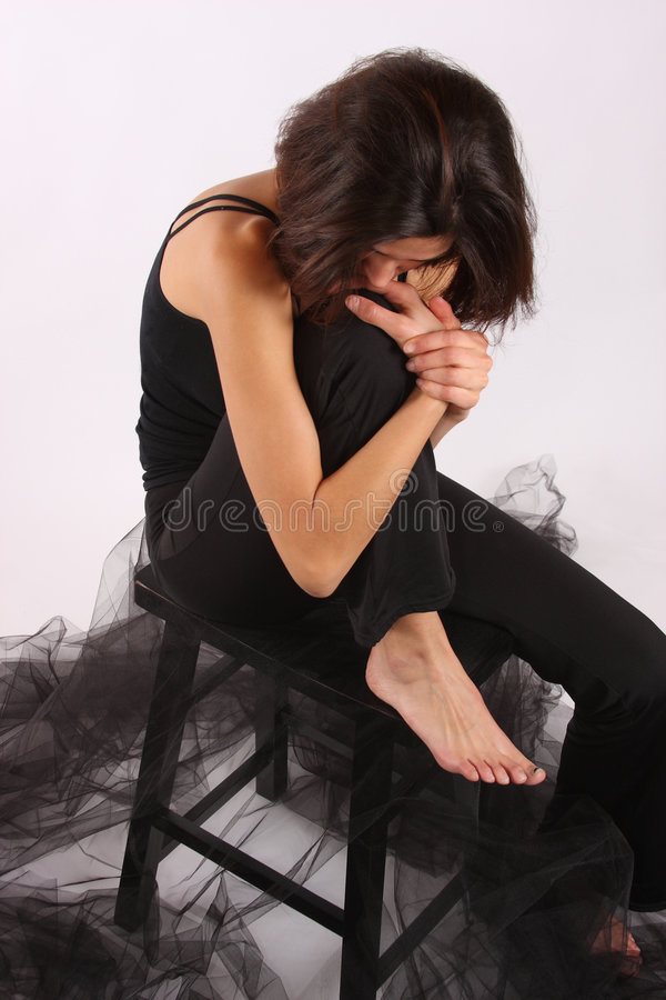 Una donna melancholoy immagine stock libera da diritti