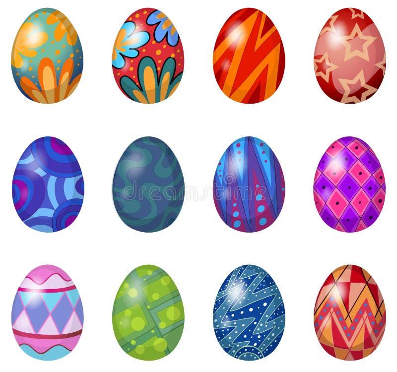 Una dozzina di uova di Pasqua illustrazione di stock