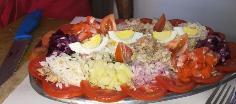 Una ensalada marroquí con buena hospitalidad fotos de archivo