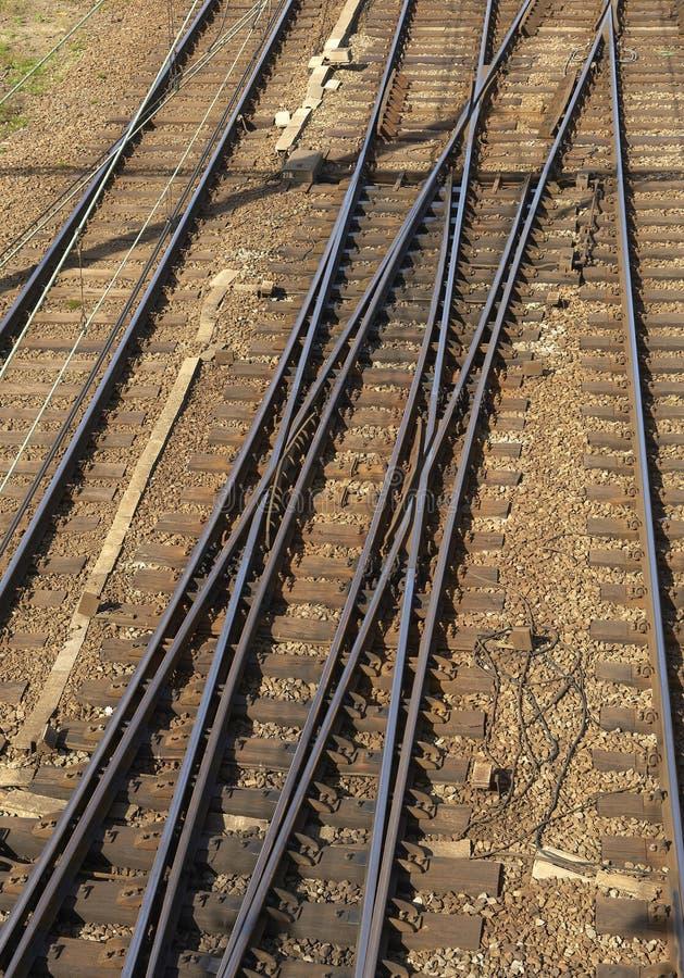 Una ensambladura ferroviaria foto de archivo