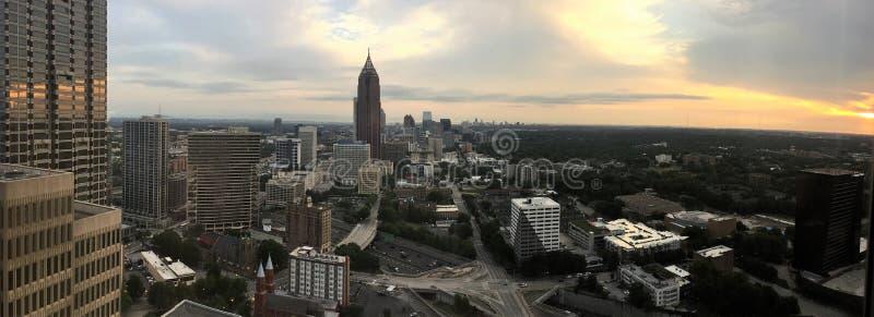 Una escena de Atlanta céntrica Georgia fotografía de archivo