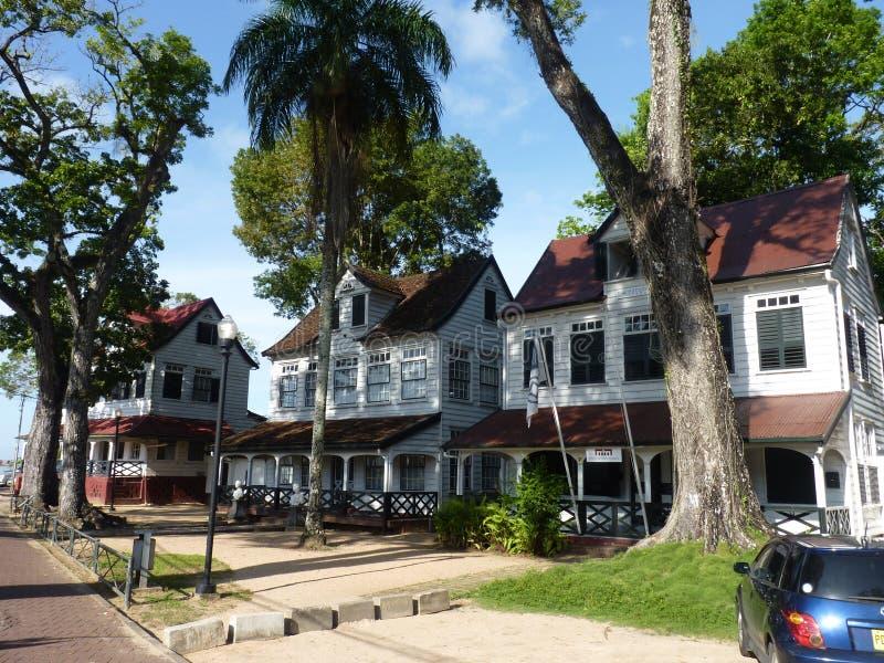 Una escena de Parimaribo, Suriname foto de archivo libre de regalías