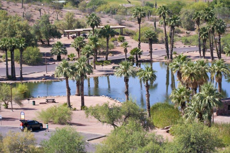 Una escena del parque de Papago en Phoenix, Arizona imagen de archivo libre de regalías