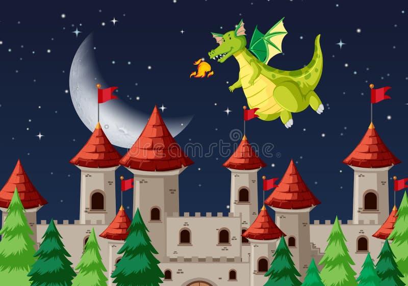 Una escena medieval de la noche libre illustration