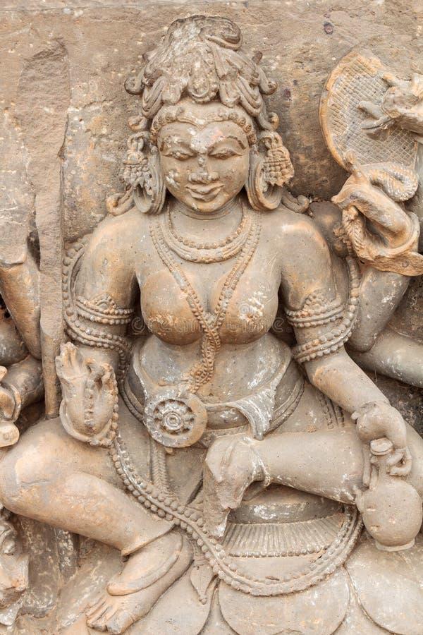 Una escultura de Durga en Abhaneri fotos de archivo libres de regalías