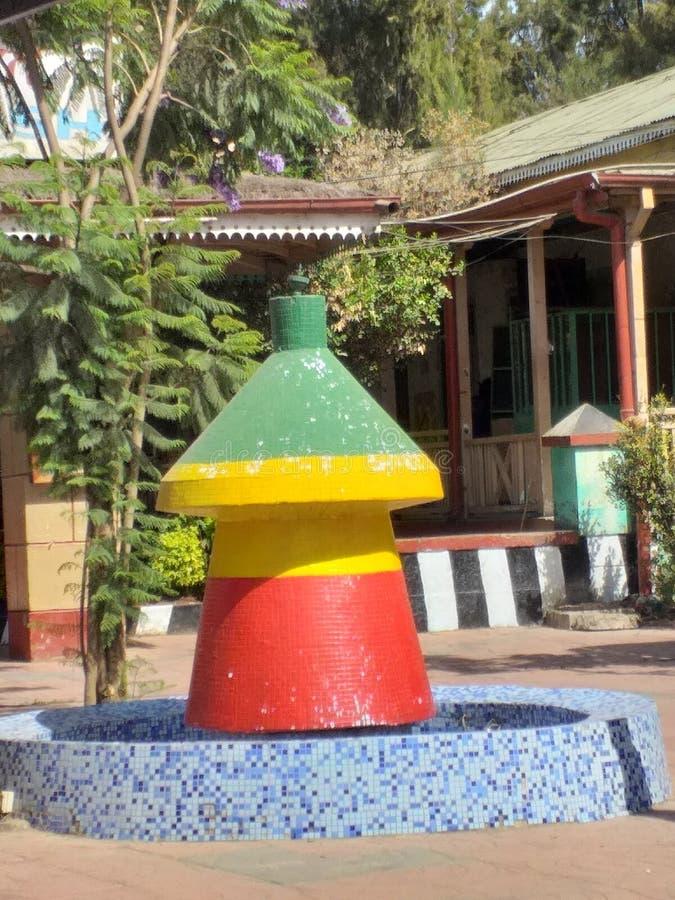 Una escultura de la tabla cultural etíope de la comida imagen de archivo