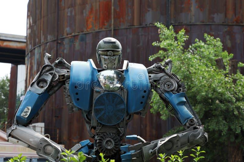 Una escultura de transformador en el Distrito de Arte 798, Beijing, China foto de archivo libre de regalías