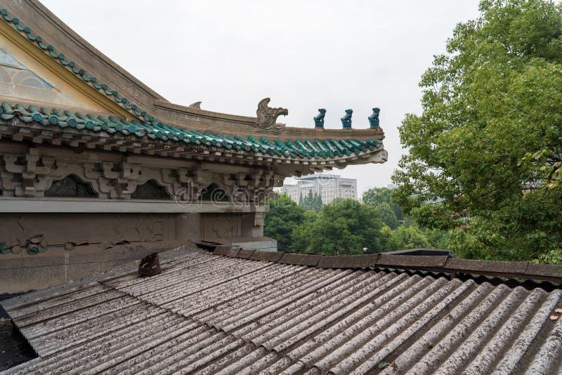 Una esquina de la biblioteca de la provincia de Hubei en China fotografía de archivo libre de regalías