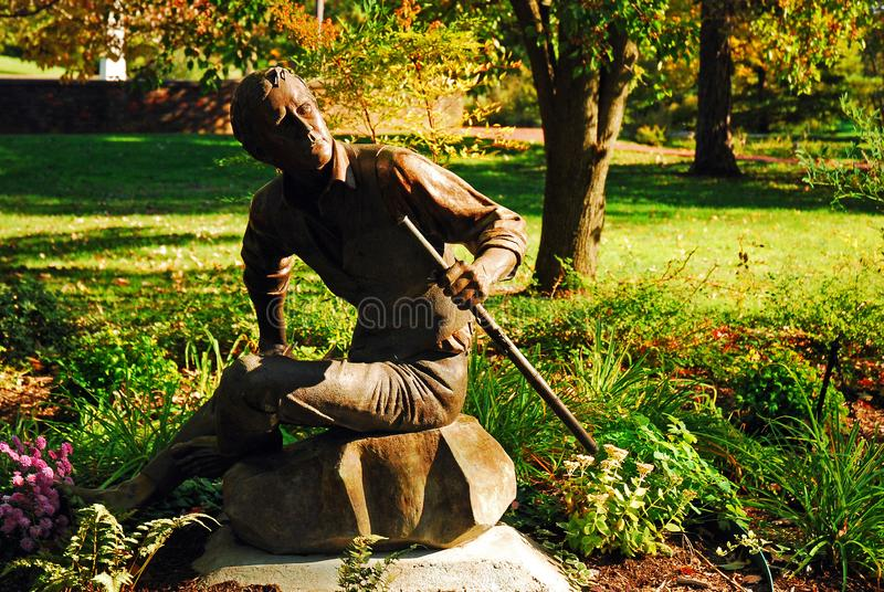 Una estatua del compositor y del compositor Stephen Foster fotos de archivo