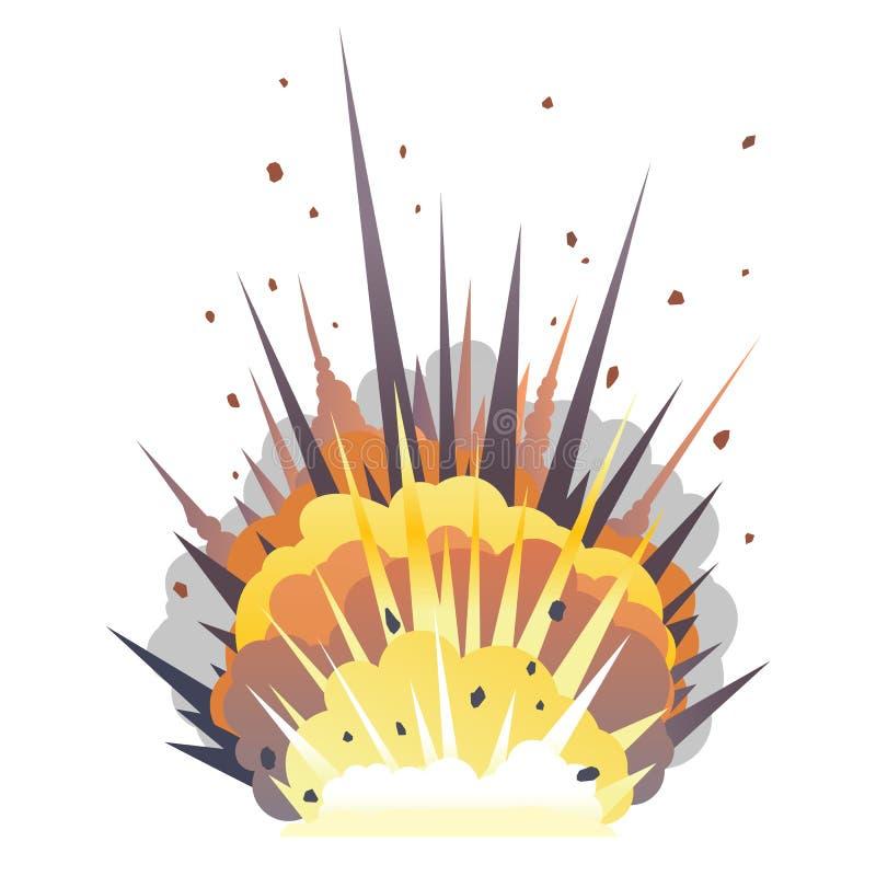 Una explosión grande de la bomba de la historieta en la tierra libre illustration