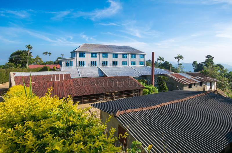 Una fabbrica del tè, Sri Lanka fotografia stock