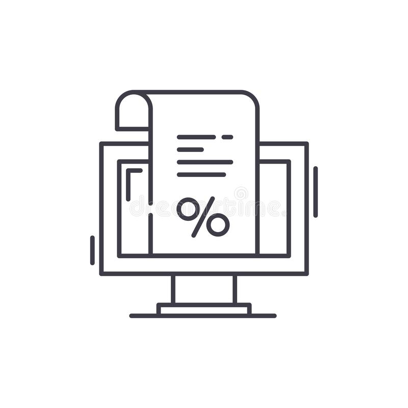 Una factura para la línea concepto del pago del icono Una factura para el ejemplo linear del vector del pago, símbolo, muestra libre illustration