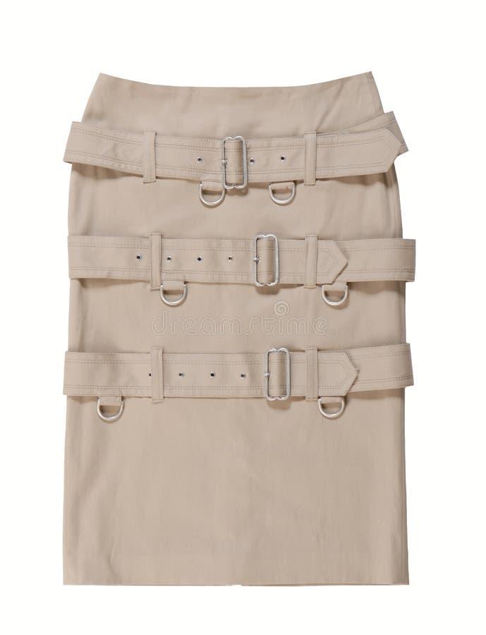 Una falda es correas adornadas con las hebillas fotos de archivo