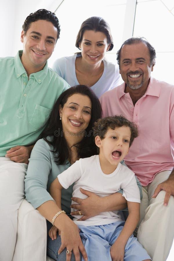 Una famiglia del Medio-Oriente fotografia stock