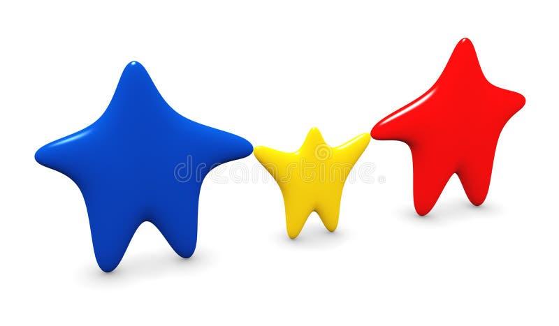 Una famiglia delle stelle illustrazione vettoriale