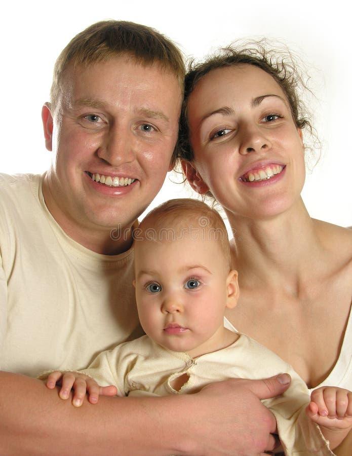 Una famiglia di tre 2 immagine stock libera da diritti