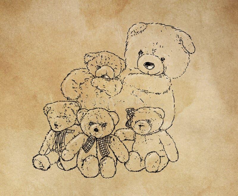 Una familia blanda de osos de la piel foto de archivo libre de regalías