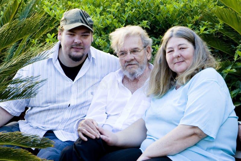 Una familia feliz fotografía de archivo libre de regalías