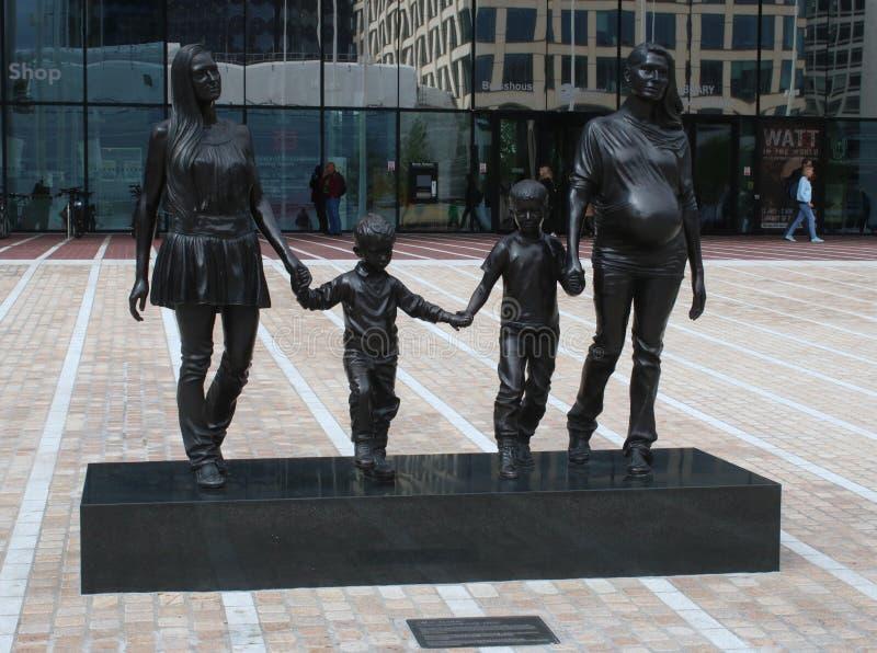 Una familia real de Birmingham, escultura, Birmingham fotos de archivo