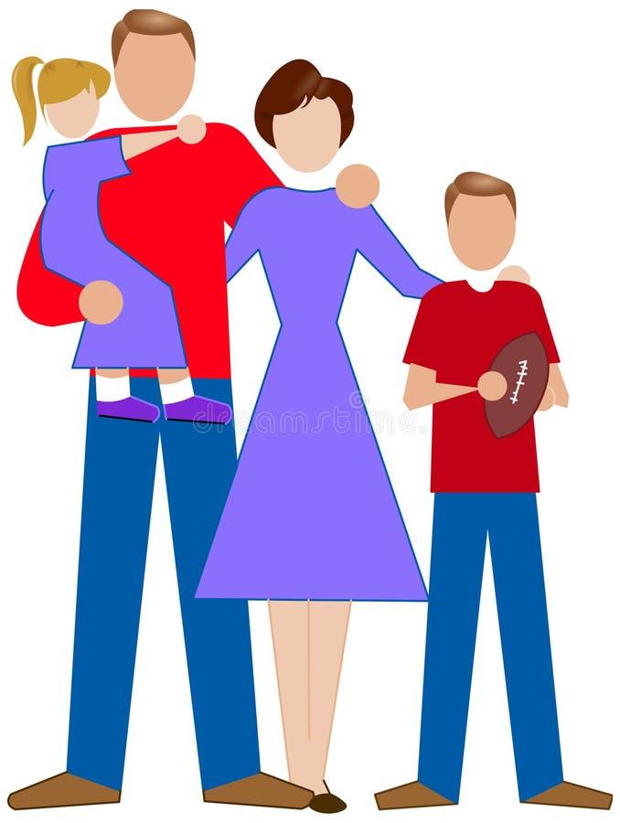 Una familia simple ilustración del vector