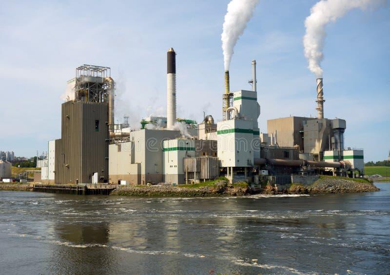 Una fascinante planta de energía en St John, New Brunswick foto de archivo libre de regalías
