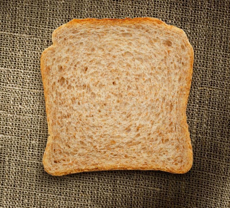 Una fetta del pane fotografia stock