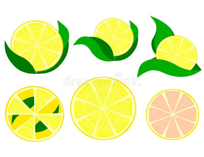 Una fetta di clipart del limone illustrazione vettoriale