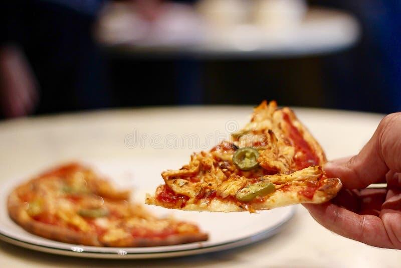 una fetta di pizza fotografia stock